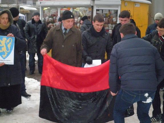 В Одессе сожгли бандеровские флаги