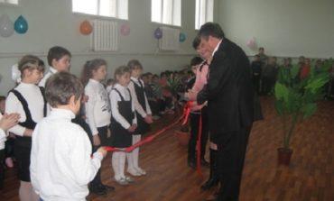 В Саратском районе открыли спортивный зал в сельской школе