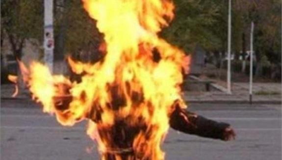 В Саратском районе мужчина выпил спирта и поджёг себя сигаретой