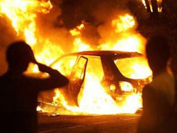 В Рени в результате ДТП загорелся автомобиль