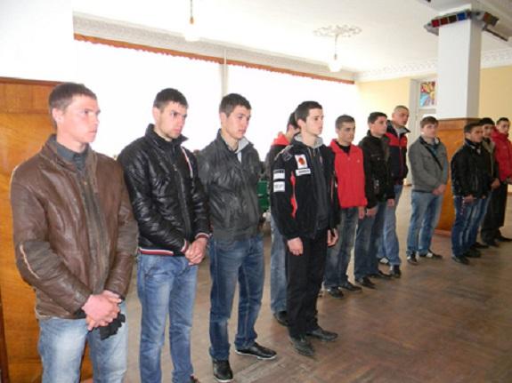 В Болградском районе проводили призывников на военную службу