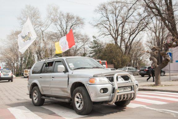 День освобождения Одессы горожане отметили автопробегом