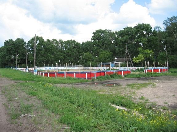 В Саратском районе воры разобрали местный стадион