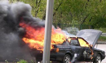 В Измаиле горел автомобиль «Audi»