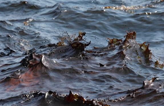 Воды Дуная возле Измаила покрыты нефтяной плёнкой