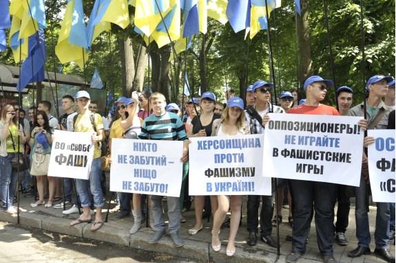 В Киеве состоялся грандиозный антифашистский митинг