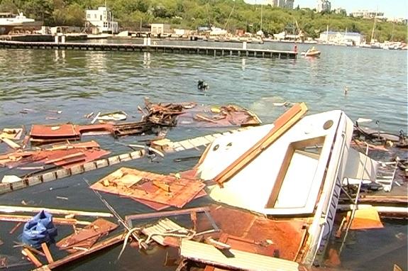 В Одессе взорвалась яхта