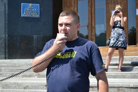 Одесские националисты заявили, что глава райадминистрациии «насилует» предпринимателей