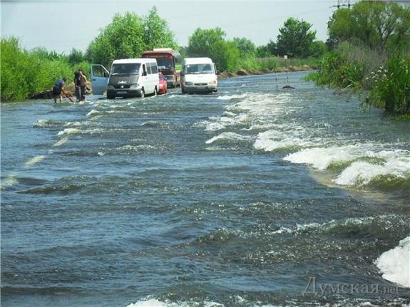 Трасса «Одесса – Рени» затоплена