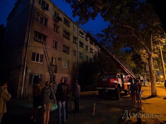 В Одессе горело общежитие
