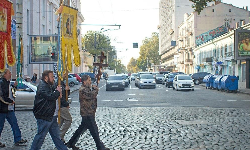 Верующие против евроинтеграции — в Одессе прошёл внешнеполитический крестный ход