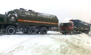 В Ренийском районе в снежный плен попали 26 легковых машин и 3 грузовика
