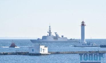 В одесский порт зашел фрегат-невидимка ВМС Франции (фото)