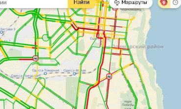 Вниманию водителей: Одесса стала в 9-бальной автомобильной пробке