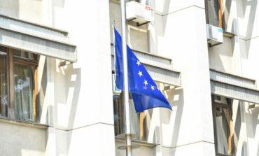 Флаг Европейского союза подняли возле здания Одесской областной администрации (фото)