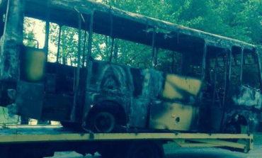 В Арцизе сожгли маршрутку
