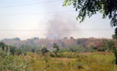 Возле Одесского НПЗ горит городская свалка