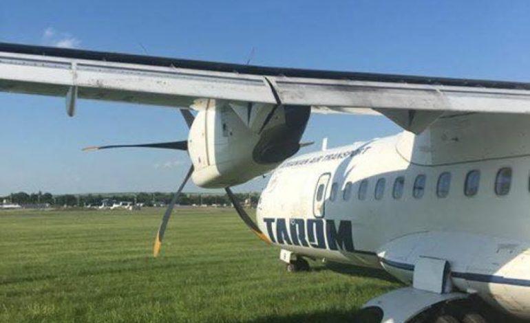 ЧП в кишиневском аэропорту: самолет выкатился за пределы взлетной полосы