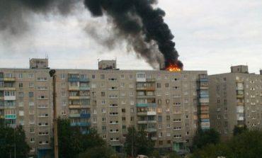 В Одессе на поселке Котовского горела жилая девятиэтажка