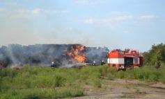 Масштабный пожар под Одессой: сгорело 300 тонн сена