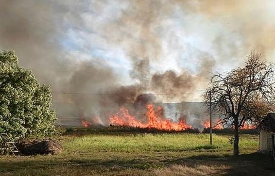 В Измаильском районе, пытаясь потушить горящую траву, пострадала пенсионерка