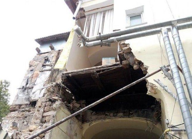 В центре Одессы обрушилось государственное здание