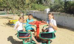В селе Арцизского района, где рождаемость превышает смертность, установили детскую площадку