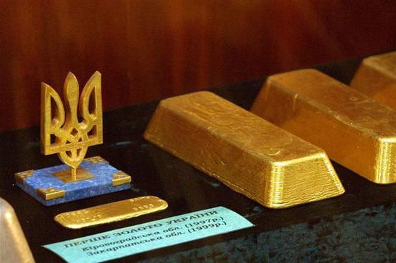 Национальный банк Украины увеличил запасы золота почти в два раза