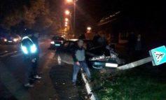"ДТП в Измаиле: ""Mazda"" снесла электроопору"