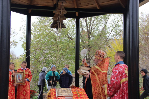 В селе Мирнополье Арцизского района установили новую колокольню