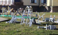 В Болграде завершается обустройство новой спортплощадки