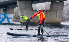 Измаильчанин выиграл первые в Украине ледовые гонки по Днепру