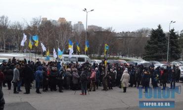 Затянувшиеся выборы в Таировской ОТГ: жители поселка митинговали под стенами Одесской ОГА
