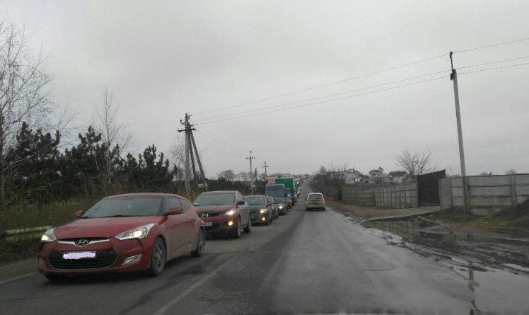 Пробка под Одессой достигла невероятного масштаба