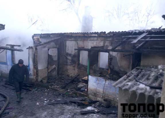 В Болградском районе пожар унес жизнь человека