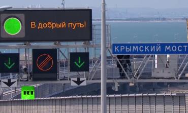 Путин открыл Керченский мост. Официальный Киев и Париж уже высказались против