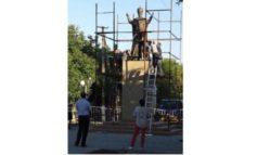 В Ренийском районе на постамент вместо Ленина установили скульптуру Святого Николая