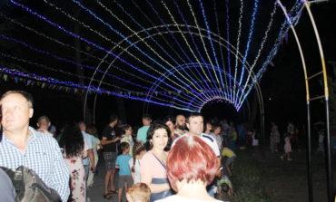 В Арцизе появился светящийся тоннель-арка (ФОТО)