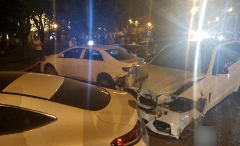 В Одессе «BMW» спровоцировал аварию с участием шести автомобилей