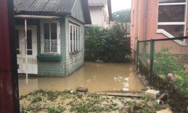 Паводковая волна разрушила мост на Закарпатье