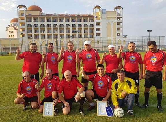 Ветераны футбола из Кубея сыграли в Болгарии