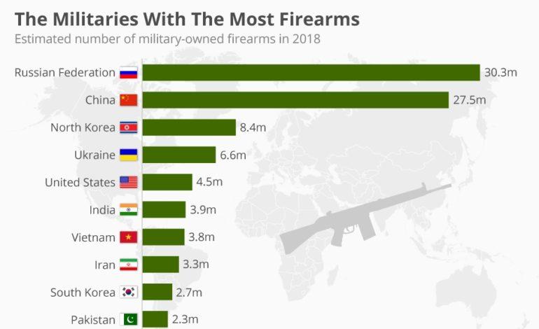 Украинская армия: четвертая в мире по числу стрелкового вооружения
