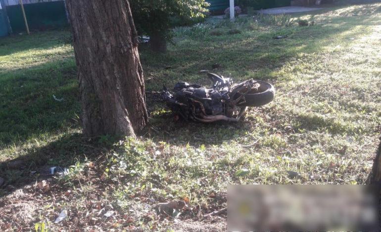 В Беляевке мотоцикл врезался в дерево – погибли два человека