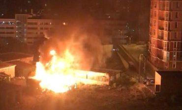 В Одессе на Гагаринском плато горело заброшенное здание