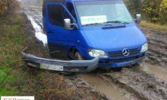 На размытой дороге между Арцизом и Болградом застряли маршрутки