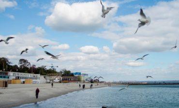 Теплая осень на одесском побережье (фото)
