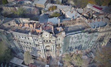 В Одессе продолжается ремонт Дома Руссова