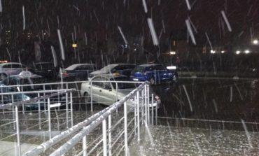 В Одессе пошел первый снег (фото)