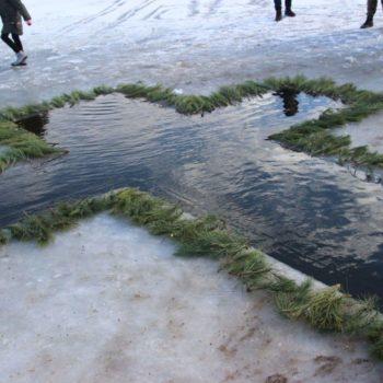 Крещенские купания на Долиновском ставке (ФОТО)