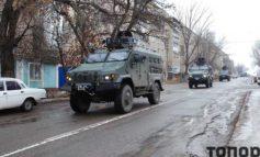 На улицах Болграда появилась военная техника